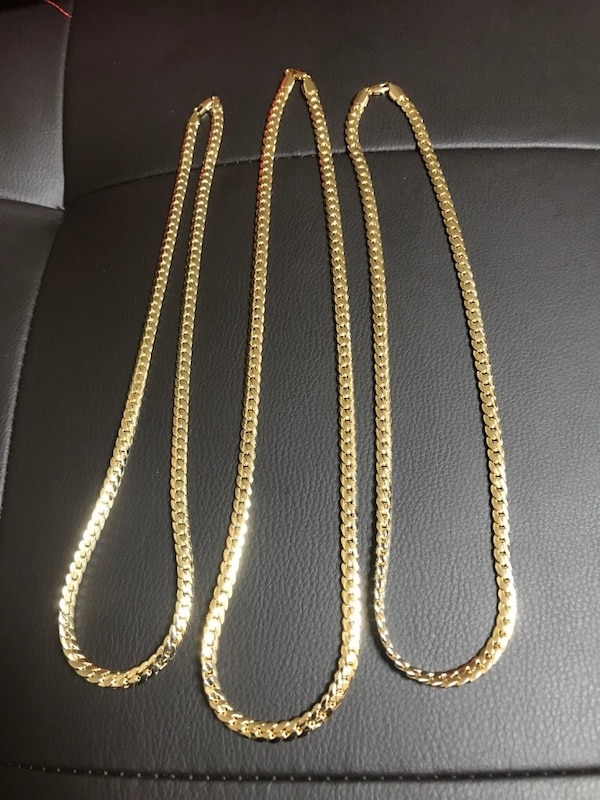"Used RESTOCKED WONT LAST! 14k Cuban Link Gold Chains. 22"" 8mm 24 ... 04077ebc02c3"