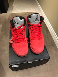 Size 9.5 Jordan 5 Red suede, perfect condition NO LOW BALLERS Vaughan, L6A 3W6