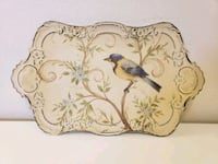 Shabby Chic Painted Metal Footed Tray  Santa Rosa, 95404
