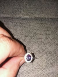 Amazing amethyst and white sapphire ring. Odessa, 14869