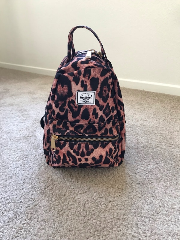 b796e2f28cdd Used black and brown leopard print backpack for sale in San Diego ...