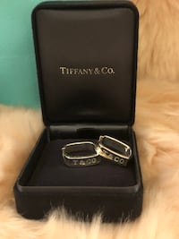 Authentic Tiffany and Co 1837 Square Round Hoop Earrings