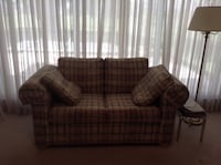 brown and black plaid fabric loveseat Kissimmee, 34744
