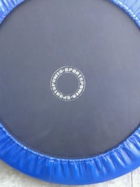 round blue and black outdoor trampoline San Mateo, 94401