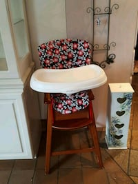baby's white and red high chair Huntington