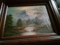 brown wooden framed painting of trees Chicago, 60638