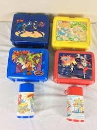 Lot of 4 Vintage Lunch Boxes 80s and 90s Severn, 21144