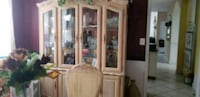 brown wooden framed glass display cabinet Accokeek