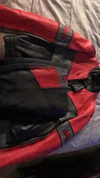 red and black leather zip-up jacket Catonsville, 21228