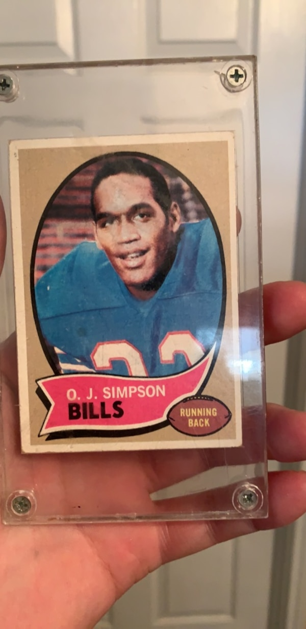 Oj Simpson Rookie Card In Great Condition