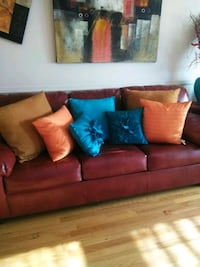 red leather 3-seat sofa Odenton, 21113