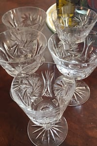 Porto or sherry crystal glasses. Vintage Hampstead, H3X 3M9