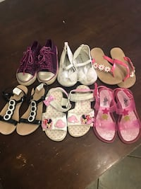 Toddler's assorted shoes size 10 and10$ for all Sutton, 01590