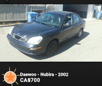 2002 black Daewoo Nubira sedan CALGARY