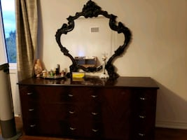 brown Italian made dresser