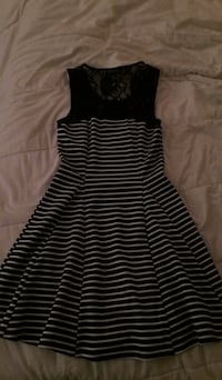 Black and white stripe sleeveless dress Laval, H7M 2E8