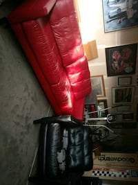 red 3-seat sofa and black chair Mooresville, 28115