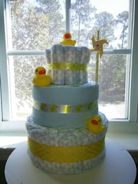 Yellow Ducks Baby Diaper Cake