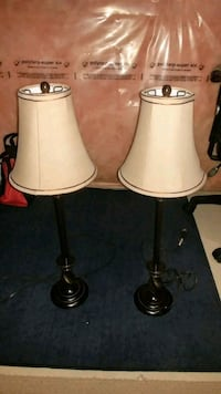 two black and white table lamps Hamilton, L0R 2H6