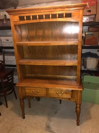"Vintage Solid Wood Entry Table Hutch Bookshelf 46""x17""x77.5"" Silver Spring, 20904"