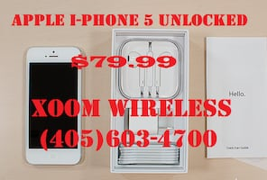 Apple iPhone 5 (unlocked) on sale now for only $79.99 plus tax. We car