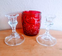 two red and clear glass cups Modesto, 95355
