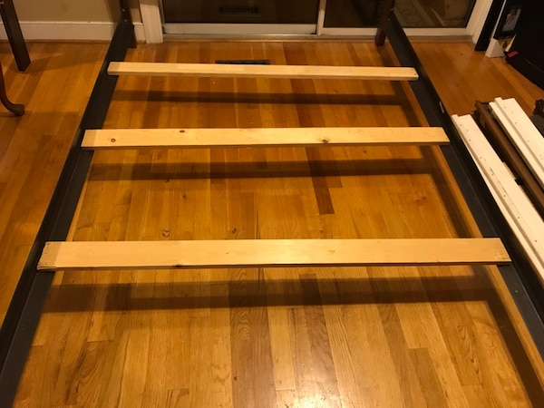 Full size solid wood bed frame for sale 488be01c-b0d5-4728-9db5-71244c2807b6