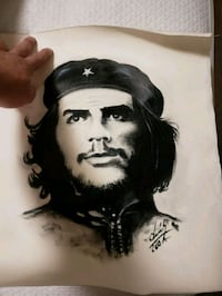 Hand made canvas painting of Che Guevara