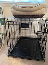 Dog Crate including bed and blanket NOT for large breed dogs.