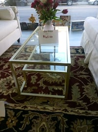New gold glass coffee table Martinsburg, 25401