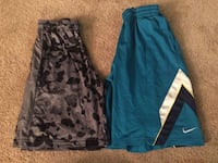 Men's shorts, Size large, 2 pair, Nike and Under Armour