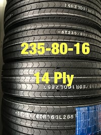 New trailer tires 235/80/16 Samson 14ply Houston, 77047