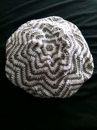 Gray and White Knit Beret Cap  Lake Forest, 92630
