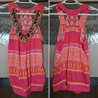 Front beaded Summer top size small
