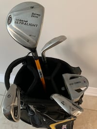 Kids Golf bag and 5 Irons