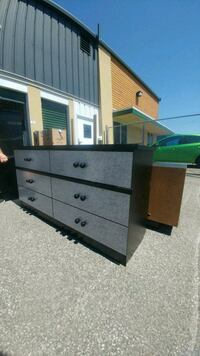 white and black wooden dresser Laval, H7A 4A8