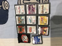 assorted Nintendo DS game cartridges castlevania others