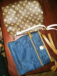 brown and black Louis Vuitton monogram leather crossbody bag Houston, 77071