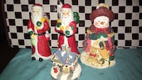 two Santa Claus and Snowman with house miniature Laredo, 78046