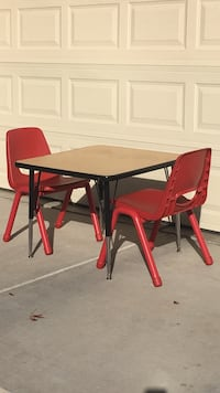 """Classic 30"""" Square Adjustable Height Table with Chairs 2063 mi"""