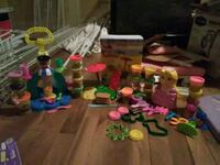 All 4 playdoh sets plus tons of playdoh Afton