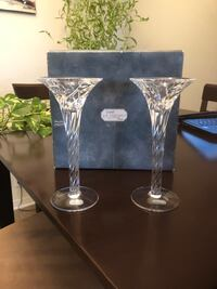CRYSTAL CANDLE HOLDERS. JG DURAND. NEW  Montréal, H8N 2Y7