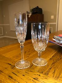 Crystal goblet and champagne flute Dumfries, 22025