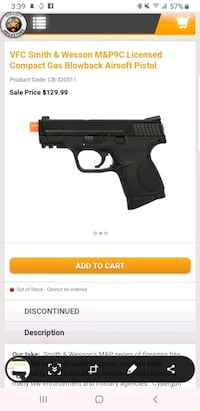 M&P 9 c green gas airsoft  St. Charles, 60174