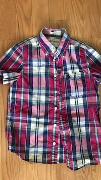 Abercrombie multi check s/s. Boys Large Gainesville, 20155