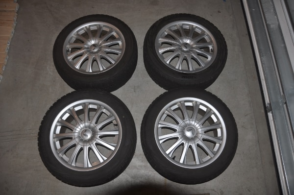 Price Reduced! - Now $250! - 4 Used Wheels with Bridgestone Blizzak Winter Tires WS80 - SIZE: 225/50R17 along with locking lug nuts to use with them 5e3e7d70-418a-44eb-b18d-6e8a05da8df6