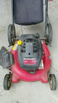 red and black Troy-Bilt push mower Peoria Heights, 61616