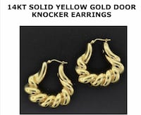 Solid 14k gold door knocker earrings Silver Spring, 20904