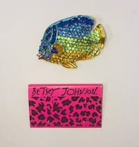 "Betsey Johnson ""TROPICAL WATERS!"" Large rhinestone tropical fish brooch. NEW! Carrollton, 75007"