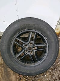 Great used rims and tires for a Jeep